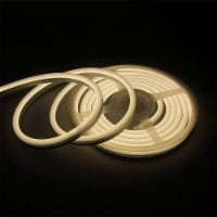 12V Flexible LED Strip Waterproof Sign Neon Lights Silicone Tube (5M - 16.4 FT) warm white