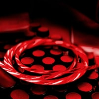 Micro USB Cable Flowing LED Light Data Sync Charging Cord Universal Micro USB (Red) - 1