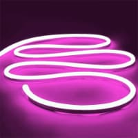12V Flexible LED Strip Waterproof Sign Neon Lights Silicone Tube (1M - 3.3 FT) pink