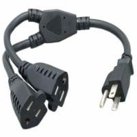 14 in. 14 AWG Power Cord Splitter Cable (2 NEMA 5-15R to 1 NEMA 5-15P) - 1
