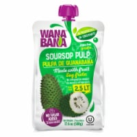 Wanabana 100 Percent Real and Natural Fruit Pulp for Juice Making, Soursop, 17.64 Ounce - 17.64 Ounce (Pack of 1)