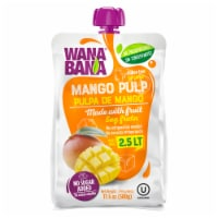 Wanabana 100 Percent Real and Natural Fruit Pulp for Juice Making, Mango, 17.64 Ounce - 17.64 Ounce (Pack of 1)