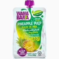 Wanabana 100 Percent Real and Natural Fruit Pulp for Juice Making, Pineapple, 17.64 Ounce - 17.64 Ounce (Pack of 1)