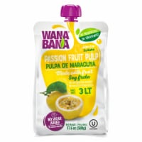 Wanabana 100 Percent Real and Natural Fruit Pulp for Juice Making, Passion Fruit, 17.64 Ounce - 17.64 Ounce (Pack of 1)