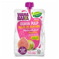 Wanabana 100 Percent Real and Natural Fruit Pulp for Juice Making, Guava, 17.64 Ounce - 17.64 Ounce (Pack of 1)