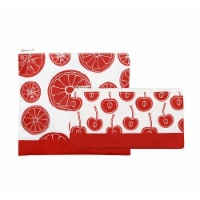 Lunchskins Reusable Sandwich and Snack Bags - Red/White