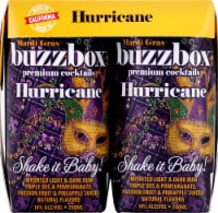 buzzboz Premium Cocktails Hurricane Cocktail - 4 ct / 200 mL