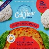 Cali'flour Foods Sweet Red Pepper Cauliflower Pizza Crust