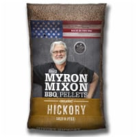 Myron Mixon Smokers Natural Wood BBQ Pellets for Smoking & Grilling, Hickory - 1 Piece