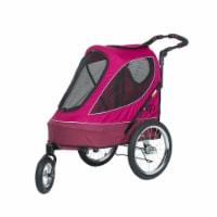 Petique All Terrain Pet Jogger Stroller Wagon w/ Large Bike Tires, Blazin' Berry - 1 Piece
