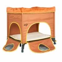 Petique Bedside Lounge Portable 2 Level Pet Bed for Dogs and Cats, Lion's Den - 1 Piece