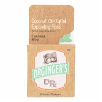 Dr. Ginger's - Xylitol and Coconut Oil Expanding Floss - 32 Yards