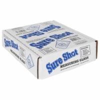 Measure Master 7006659 1.5 oz Sure Shot Mini-Measure Shot Glass - Pack of 12 - 1