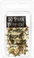 Creative Impressions Metal Paper Fasteners 50/Pkg-Stars - Gold - 1