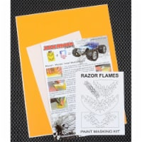XXX Main Racing XXXM039L Razor Flames Paint Mask - 1