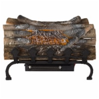 Pleasant Hearth Electric Crackling Log with Grate and Heater - 20 in