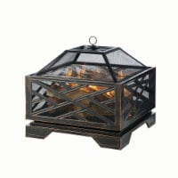 Pleasant Hearth Martin Square Deep Bowl Fire Pit