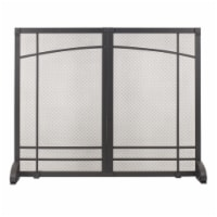 Pleasant Hearth Amherst Fireplace Screen - Black