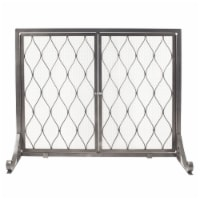 Pleasant Hearth Stonewall Fireplace Screen