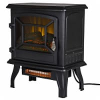 Pleasant Hearth Infrared Electric Stove with 2-Stage Heater - 17 in