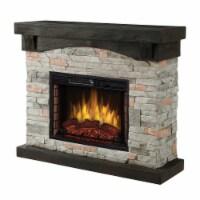 Muskoka Sable Mills Electric Faux Stone Fireplace - Grey - 42 in