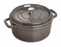 Staub Cast Iron 9-qt Round Cocotte - Graphite Grey - 9-qt