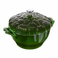 Staub Cast Iron 3-qt Artichoke Cocotte - Basil - 3-qt