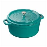 Staub Cast Iron 5.5-qt Round Cocotte - Turquoise