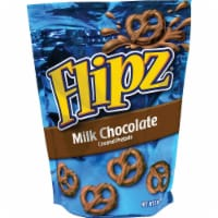 Flipz Milk Chocolate Covered Pretzel, 5 Ounce -- 6 per case.