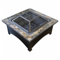 AZ Patio Heaters FT-51133D Freestanding Wood Burning Square Table Fire Pit, 22 x 36 x 36 in.