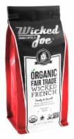 Wicked Joe  Organic Ground Coffee Dark Roast   Wicked French