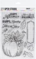 Memory Box Clear Stamps-Halloween Pumpkin - 1