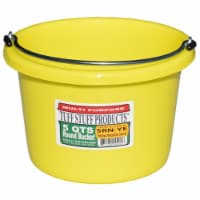 Tuff Stuff Products SRNYE 5 qt. Round Bucket, Yellow - 1
