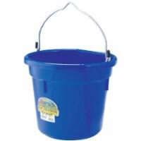 Tuff Stuff Products KMC-FB100BL 20 qt. Flat Utility Bucket, Blue
