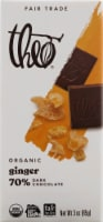 Theo Chocolate Ginger 70% Dark Chocolate Bar