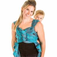 Chimparoo CE001B-40-4 Woven Wrap Baby Carrier - Biloba Aqua - Extra - 1
