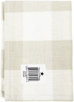 Dunroven House OR819-CRE Large Farmhouse Check Towel, Wheat & Cream - Set of 3