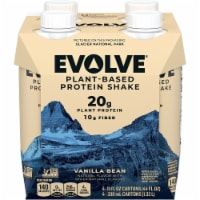 Evolve Protein Shakes Plant Based Protein Vanilla 4 Pack