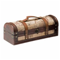 1 Bottle Old World Wooden Wine Box by Twine® - Set of 1