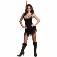 Native American Princess Pocahottie Womens size S Dress Costume Headpiece Oufit Dreamgirl - 1 unit