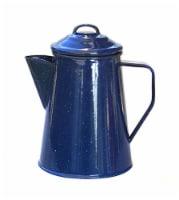 Caddis 8 cup Enamel Coffee Percolator - Blue