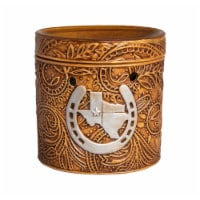 Scentsationals Texas Leather Embossed Full-Size Wax Warmer with 25 W Light Bulb - 1 unit