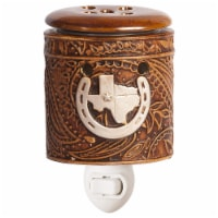 Scentsationals Home Fragrance Texas Leather Accent Wax Warmer with 15 Watt Light Bulb - 1 unit