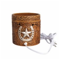Scentsationals Home Fragrance Western Leather Emobossed Full-Size Wax Warmer with Light Bulb - 1 unit