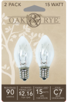 Oak & Rye 15-Watt C7 Light Bulbs - Clear