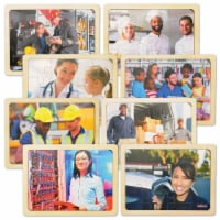 Kaplan Early Learning Photo Real People in Career Puzzles - Set of 8 - 1