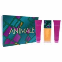 Animale Animale 3.4oz EDP Spray, 3.4oz Body Lotion, 3.4oz Shower Gel 3 Pc Gift Set - 3 Pc Gift Set