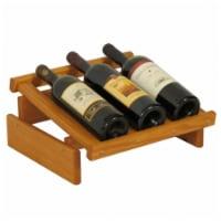 Wooden Mallet 3 Bottle Dakota Wine Display