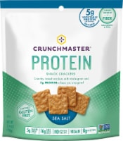 Crunch Master  Protein Snack Crackers Gluten Free   Sea Salt