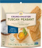 Crunchmaster Tuscan Peasant Simply Olive Oil & Sea Salt Crackers